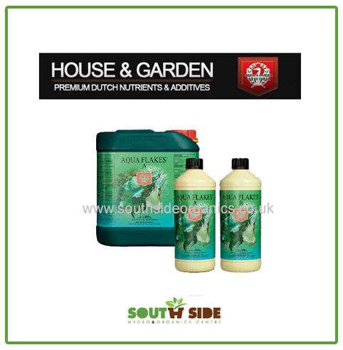House Garden Nutrients Aqua Flakes Bloom A B